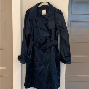 Rebecca Taylor Navy Trench with Shine